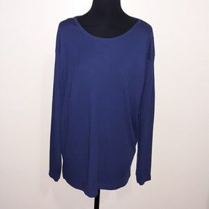 NWT Bobbie Brooks Blue Long Sleeves Popover Top 18